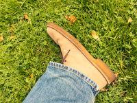 Beige suede shoe
