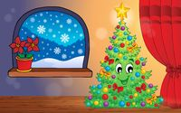 Christmas indoor theme 1 - picture illustration.
