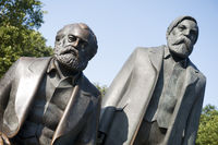 Marx and Engels bronze