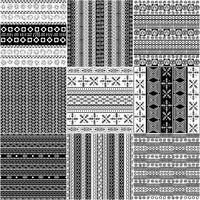 Tribal motif monochrome set