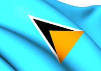 Flag of Saint Lucia. Close Up.
