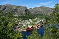 village of Ana-Sira, Flekkefjord, Norway
