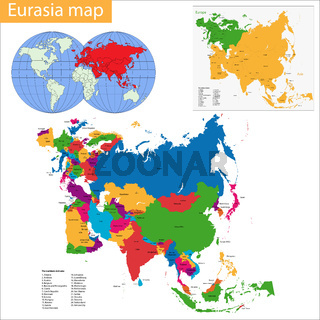 Eurasia map
