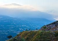 Top morning mountain  view (Greece,  Kefalonia).