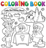 Coloring book fairy tale theme 1 - picture illustration.