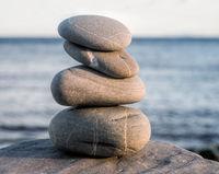 Stones pyramid symbolizing zen