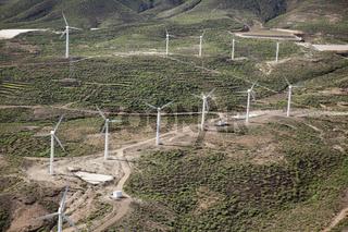 Luftaufnahme Windkraftanlagen, Teneriffa