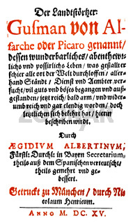 front page by Aegidius Albertinus, 1560 - 1620, writer and translator of the Counter-Reformation,