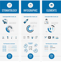 Dental Infographic Elements.