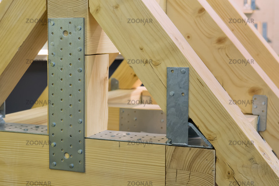 Modell eines Dachstuhls Model of a roof truss