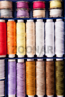 Orderly sewing silk in many colors
