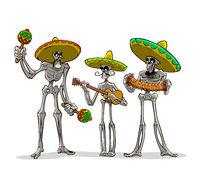 Danse Macabre. Mexican musicians.