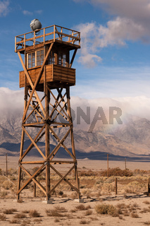 Guard Tower Searchlight Manzanar National Historic Site California Rainbow