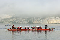 Team event of dragon boat racing,Lac de Joux
