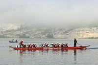 Team event of dragon boat racing,Lac de Joux