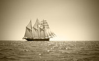 Old three mast schooner