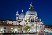 Santa Maria della Salute illuminated at night