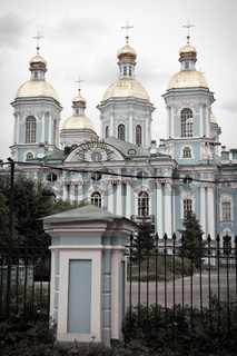 St. Nicholas Naval Cathedral . St. Petersburg. Russia