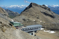 Upper cable car station Plaine Morte,Valais