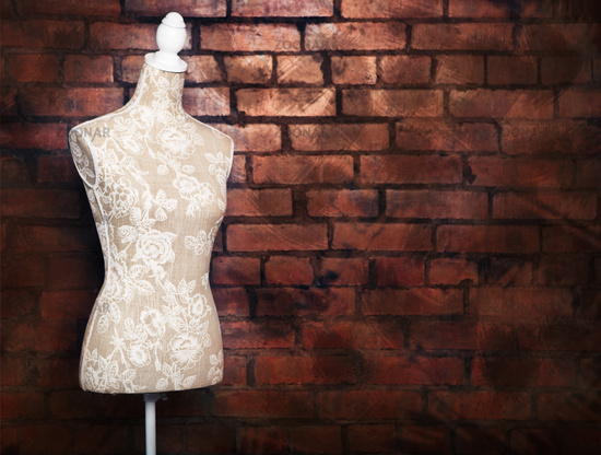 Antique dress form with vintage look