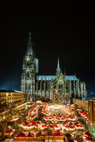 Cologne Christmas market with the cathedral