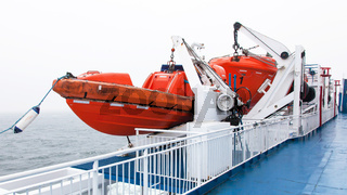 Lifeboats by deck