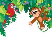 Image with jungle theme 5 - picture illustration.