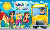 Image with school bus topic 5 - picture illustration.