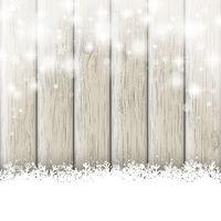 Snowfall Glitter Stars Ash Wooden Background