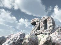 nummer zwanzig aus stein - 3d illustration