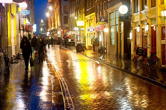 Amsterdam in the rain