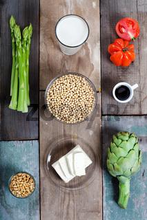 Gemüse und Soja