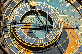 Astronomical clock on Town Hall. Prague