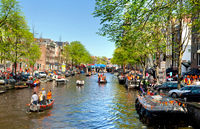 Celebration of queensday in Amsterdam.