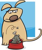 dog and nasty food cartoon
