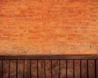 Brick and wood wall