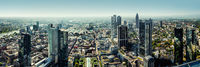 Panoramic view of Frankfurt am Main city, Germany