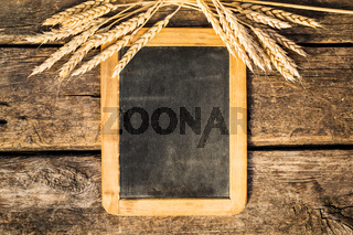 Wheat on old blackboard
