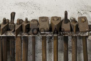 Hammer in einer Schmiede
