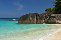 Rocks on the shores of the Similan Islands,Thailan