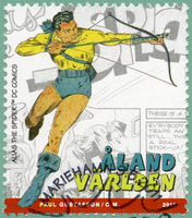 ALAND ISLANDS - 2011: shows Alias the Spider, series Superheroes with Aland root