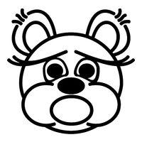 funny bear - shocked