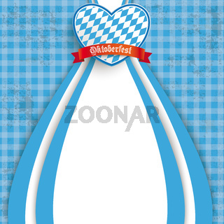 Blue Checked Cloth Oktoberfest Heart
