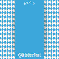 Bavarian Oktoberfest Flyer Blue Centre