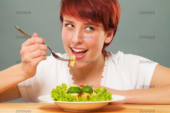 happy eating pasta
