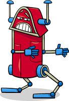 robot character cartoon illustration