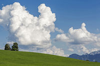 Clouds over the Allgaeu countryside