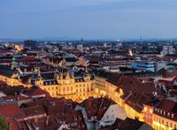 Graz Rathaus Nacht - Graz townhall night 01