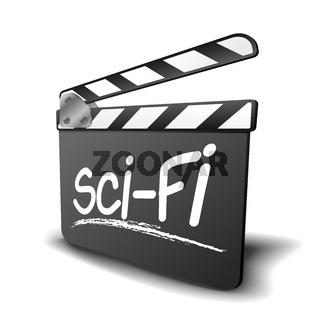 clapper board sci-fi