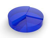 Kreisdiagramm aus Glas - blau